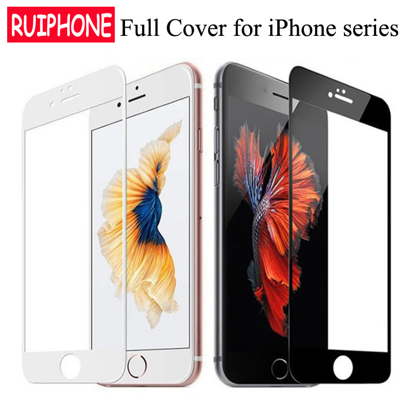 iPhone 8 Plus Full Cover Tempered Glass on iphone 6 6s 7 5 5s 5c SE Explosion-Proof Screen Protector Film for iPhone XS Max XR X