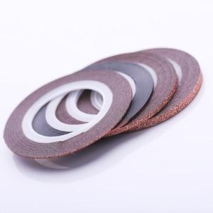 Image 3 - 4 Pcs Nail Striping Tape Lines Set Rose Gold Matte Glitter 1mm 2mm 3mm Adhesive Stickers Nail Art DIY Styling Tool
