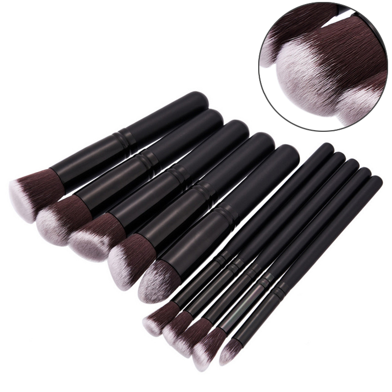 цены  New Professional 10pcs Face Makeup Brush Eyeshadow Powder Foundation Brushes Set Kit Cosmetic Beauty Makeup Tool Hot Selling