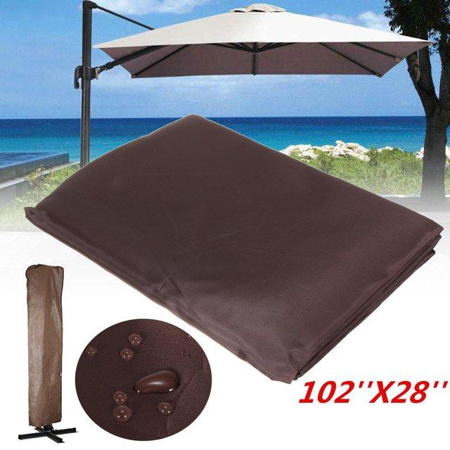 Garden Patio Umbrella Rain Cover Waterproof Polyester Canopy Protective Cover Bag Outdoor Rain Gear Accessories Fit & Garden Patio Umbrella Rain Cover Waterproof Polyester Canopy ...