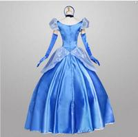 hot selling Custom Made Cinderella Dress Adult Cinderella Cosplay Costume High quality Adult Cinderella Costume