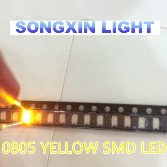147//100 # yellow led cms 0805 100 pcs smd yellow