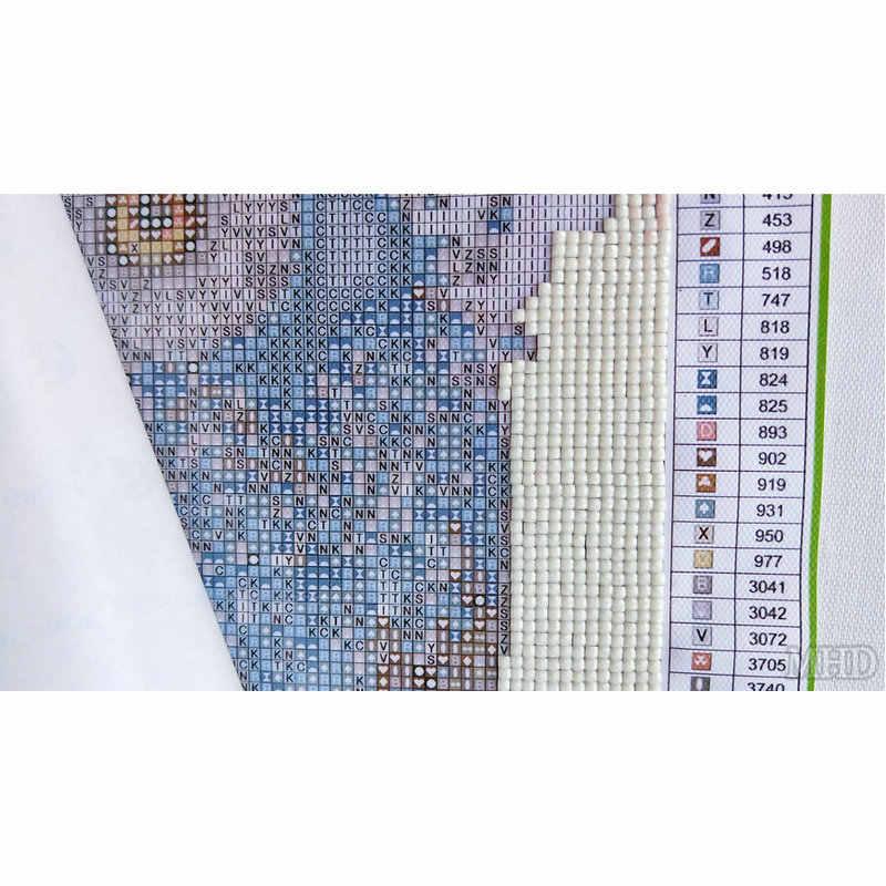 5D алмазная вышивка для Хэллоуина, Череп, голова Diy Алмазная картина Картина полный квадратный Стразы Вышивка крестиком Мозаика Наклейки