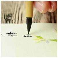 Boa qualidade pure weasel cabelo xiao kai caligrafia chinesa escova de tinta chinesa coração sutra escrita escova pequeno script|Pincéis de pintura| |  -