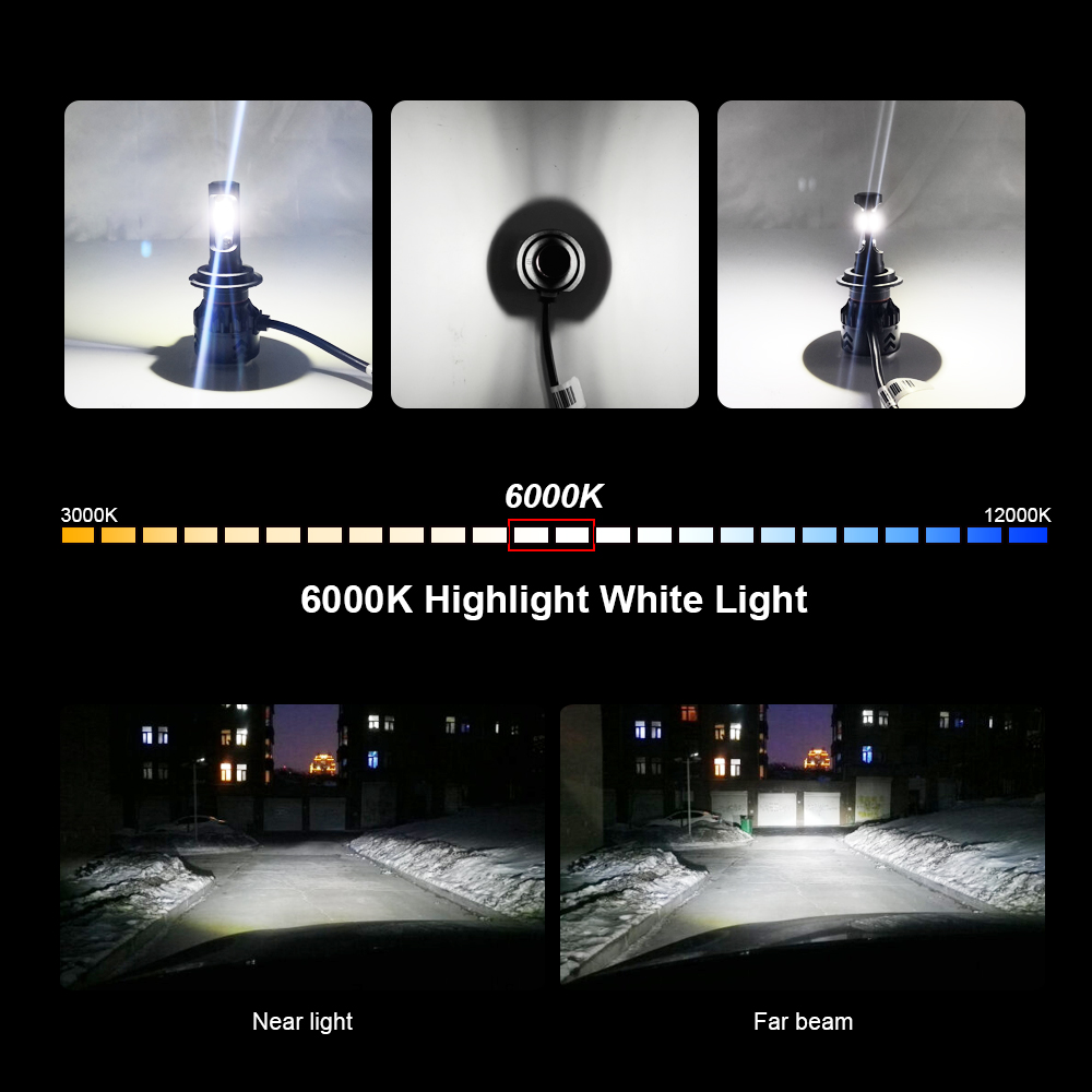 Image 3 - roadsun Car Light Led H4 H7 H11 H1 9005 9006 HB3 HB4 LED Headlight Bulb With Lumileds ZES Chip 12V 6000K Bright Auto Spot Lamp-in Car Headlight Bulbs(LED) from Automobiles & Motorcycles