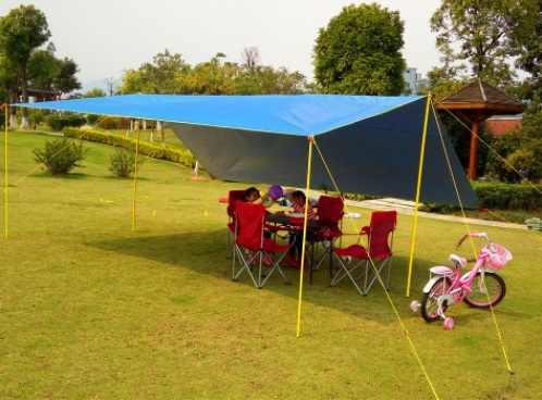 5*4.5 m Super grande taille nouveau Design coutures avec bâche enduite de bande/Gazebo/tente d'ombre de soleil/auvent Original sans Pergola de tente de poteau