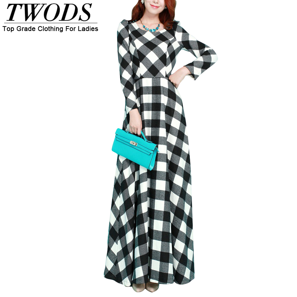 Aliexpress.com : Buy Twods 2015 new autumn winter wool maxi dress ...