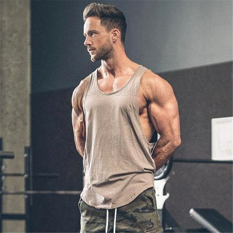 Brand Gyms Clothing Men Bodybuilding And Fitness Stringer Tank Top Vest Sportswear Undershirt Muscle Workout Singlets