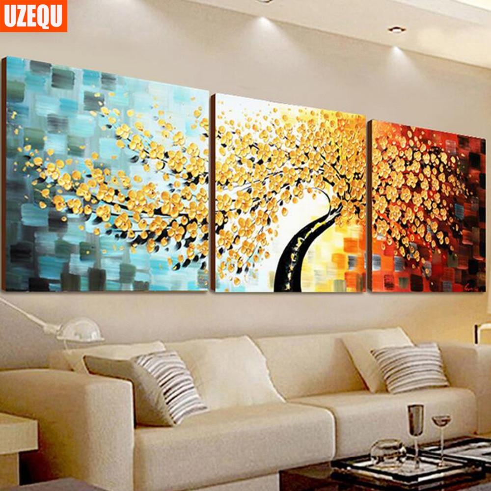Full diamond painting,120x85CM Blue Money Tree,Rhinestone Handmade ...