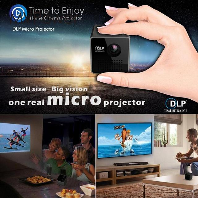 Cheap New 30 Lumens Mini LED Projector DLP P1 Home Movie Theater 1080P