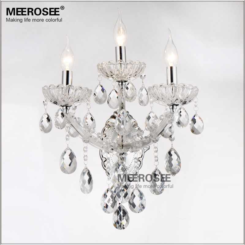 1/2/3 люстры, современный прозрачный/янтарный, Хрустальный настенный светильник Maria Theresa кристаллы настенное бра лампы люстры свечи освещение для Спальня