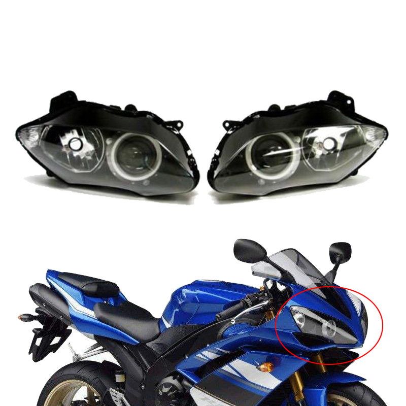 цена на Motorcycle Front Headlight Head Light Headlamp Lighting Assembly Housing Case Kit For Yamaha YZF R1 2007 2008 07 08