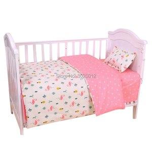 Image 3 - 3 шт., детский хлопковый комплект постельного белья с наволочкой и пододеяльником