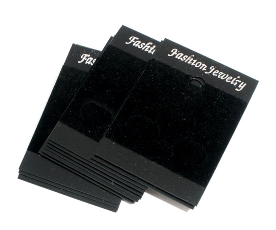 DoreenBeads 50 Black Earrings Jewellery Display Cards 52x37mm (B07077), Yiwu