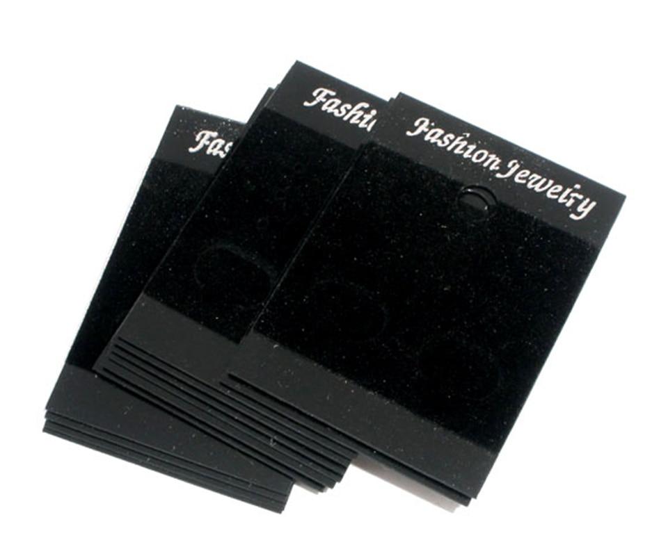 DoreenBeads 50 Black Earrings Jewellery Display Cards 52x37mm (B07077), Yiwu