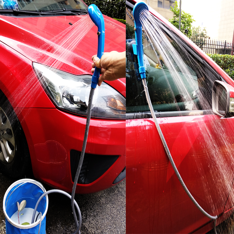 Portable Camping Shower Set USB Car Shower DC 12V Pump Pressure Shower Camp Travel Outdoor Shower Ducha Camping Pet Car Washer