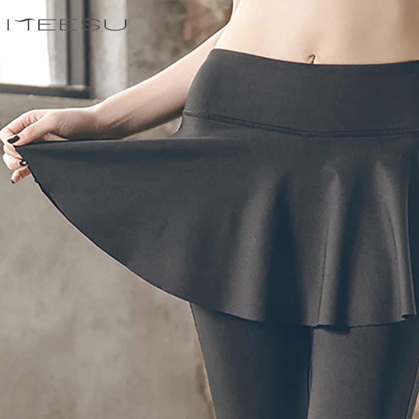 fed98d9534ff7 ... Women Fitness Sports Skirted Leggings Yoga Pants For Yoga Broek Vrouwen  Seamless Leggings Gym Legging pantalones