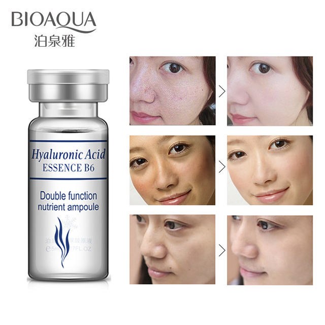 BIOAQUA Face Care Concentrated Hyaluronic Acid Serum Skin Care Anti-Aging Ageless Moisturizers Whitening Beauty Cosmetics 10pcs