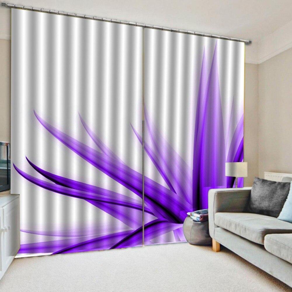 purple curtains flower curtain 3D Window Curtain Dinosaur print Luxury Blackout For Living Room
