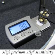 Портативный цифровой проигрыватель стилус измеритель масштаба силы датчик ЖК-подсветки Высокоточный отслеживание Guage для LP виниловая запись иглы