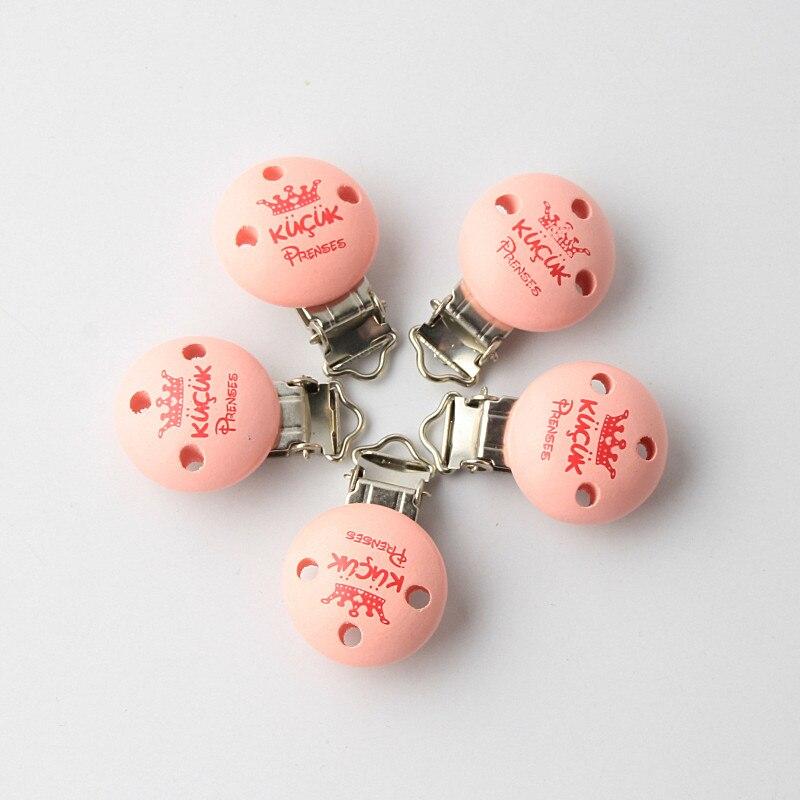 Детские Зажимы код 5 шт./компл. розовый короны безопасным деревянные детские Соски Зажимы Fit пустышка застежками Металлические Держатели