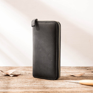 Image 5 - AETOO New wallet mens long leather multi function wallet mens clutch bag leather youth zipper wallet phone bag