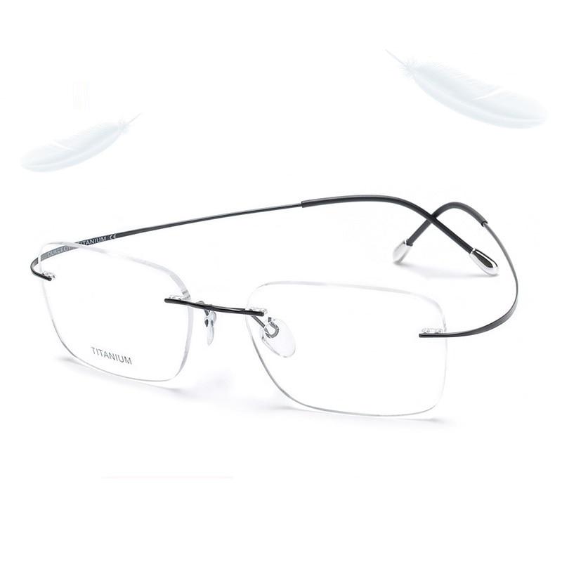485b0da5a3 Detail Feedback Questions about Cubojue 146mm Titanium Glasses Men Women  Wide Rimless Male Myopia Optical Prescription Foldable Progressive Anti  Blue Light ...