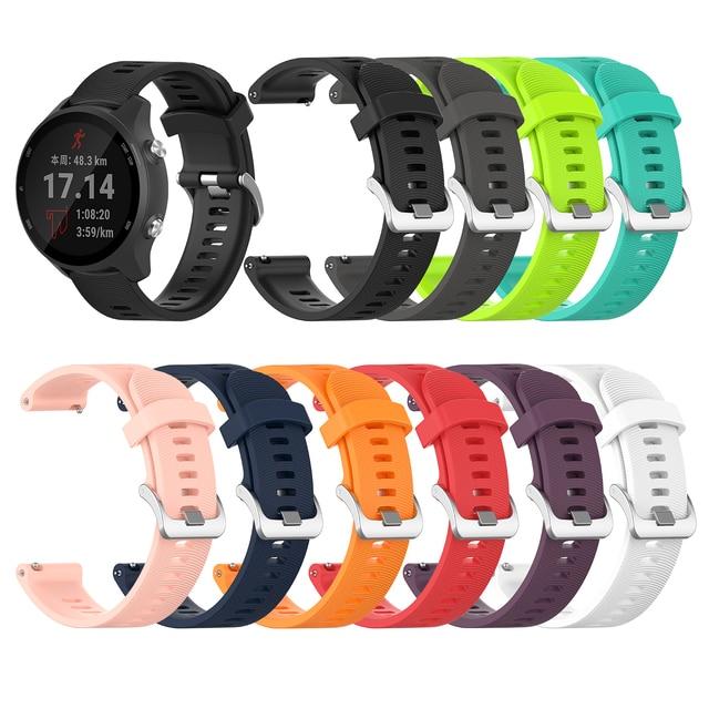 Voor Garmin 245 Riem Officiële Knop Siliconen Horloge Band Sport Riem Voor Forerunner 245M/645/Vivoactive3/vivomove Hr Armband