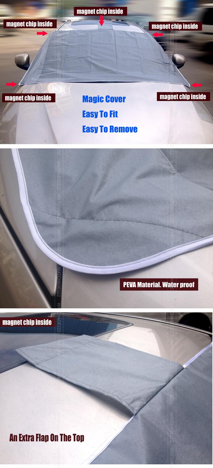 MAGNETIC Auto Snow Cover Car Windshield Windscreen Shade Sunshade - Cool decals for truckspeugeot cool promotionshop for promotional peugeot cool on