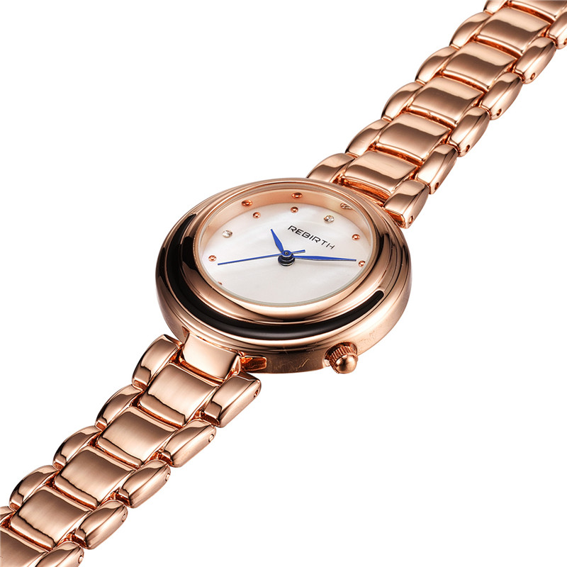 REBIRTH Steel Strap Kvinder ure Casual Ladies Watches Topmærke - Dameure - Foto 4