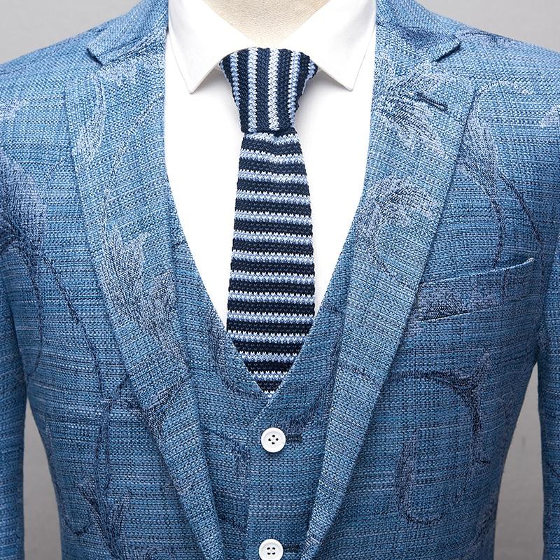 De Fit Ciel Marié 3xl Hommes Floral veste Slim Imprimé 2018 Nouveaux Mode Gilet Costumes Linge Pantalon L Pu Pour Robe Twn66HWq7Y