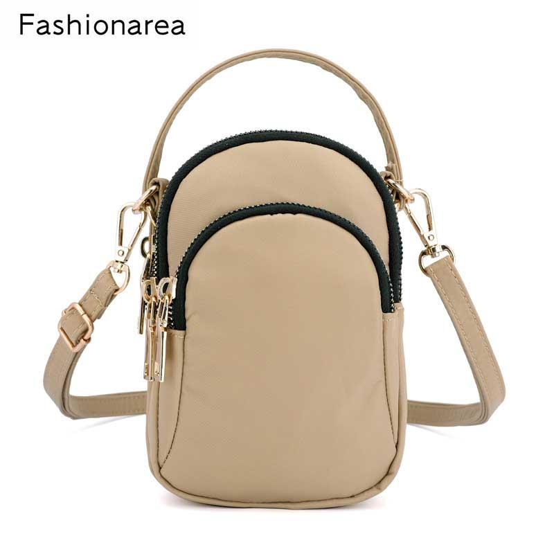Famous Brand Spring Women Small Bag Nylon Waterproof Handbag Fashion Ladies Messenger Bags Mini Shoulder Crossbody Bag Bolsa