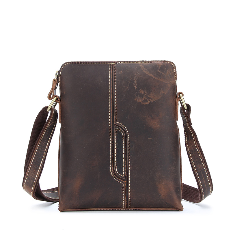 NEW Crazy Horse Genuine Leather Men Bag Male Vintage Small Shoulder Messenger Bags Crossbody Bags Messenger Bag Men Leather mva vintage crazy horse genuine leather men bags men messenger bag man shoulder crossbody bags leather handbag male small bag