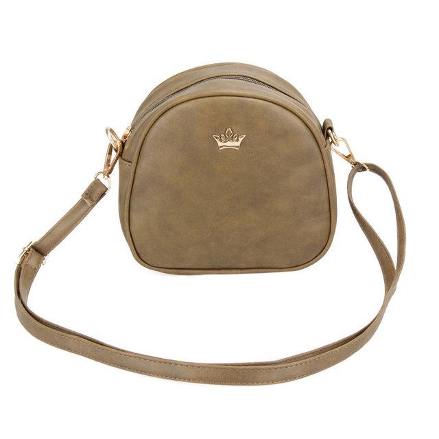 2017 New Women Bag Imperial Crown Women Messenger Bag Small Shell Crossbody Bag PU Leather Fashion Designer Handbag Phone Purse