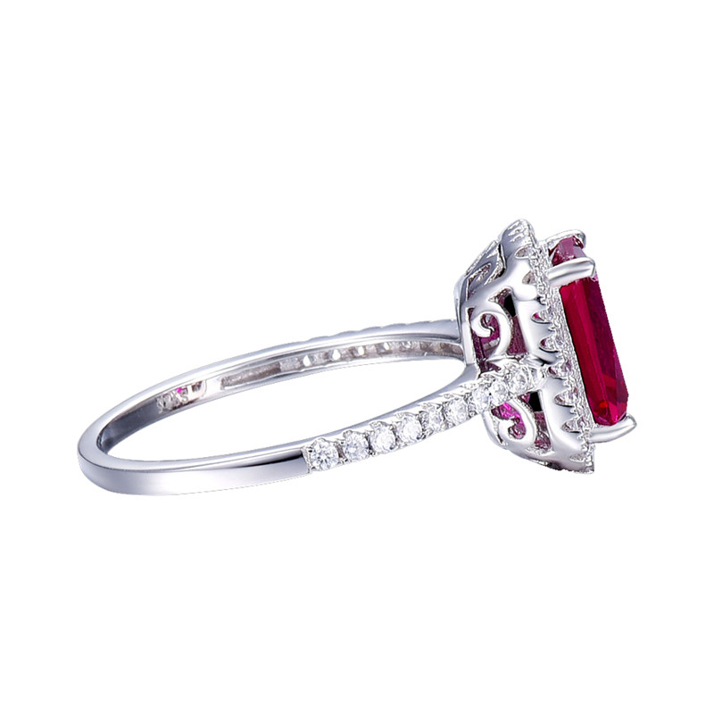 Hot Sale 3.6ct Pigeon Blood Red Ruby Engagement Bröllop Ring Pure - Fina smycken - Foto 4
