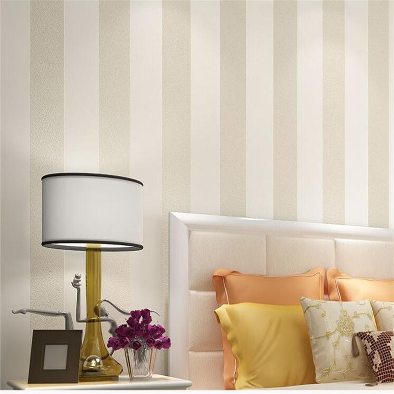 Papel de pared de rayas verticales tejidas papel pintado moderno ...