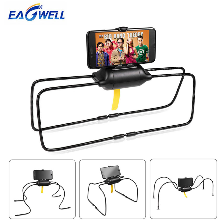 Universal Tablet PC Mobile Phone Holder Flexible Lazy Holder Desktop Table Car Mount Bracket Stand for iPad iPhone Samsung zd desktop clip on flexible cellphone holder for iphone samsung htc more black