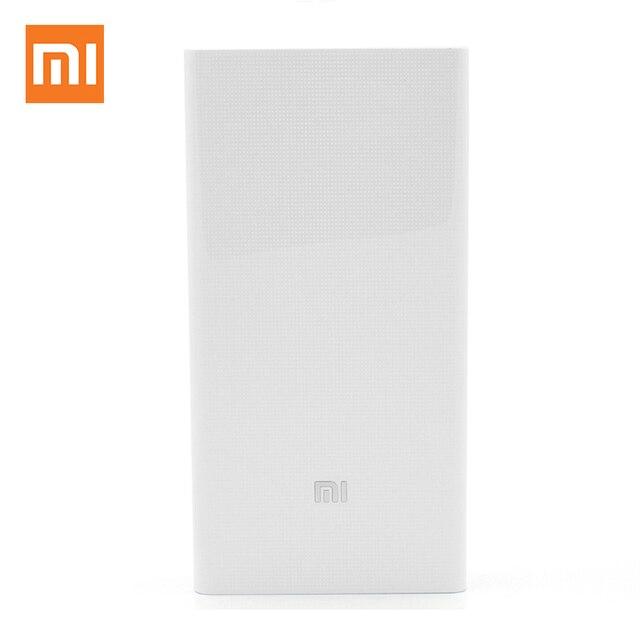 Оригинальный Xiaomi Мощность банк QC3.0 Мощность Bank 20000 мАч Мощность банк Портативный Зарядное устройство Dual USB Quick Charge для iphone Sumsung