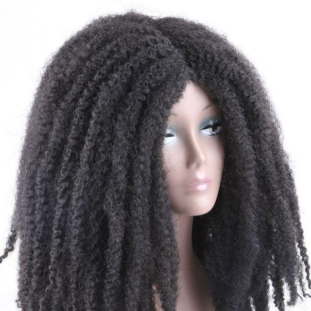 Фото роскошный синтетический парик для плетения 18 дюймов с эффектом цена