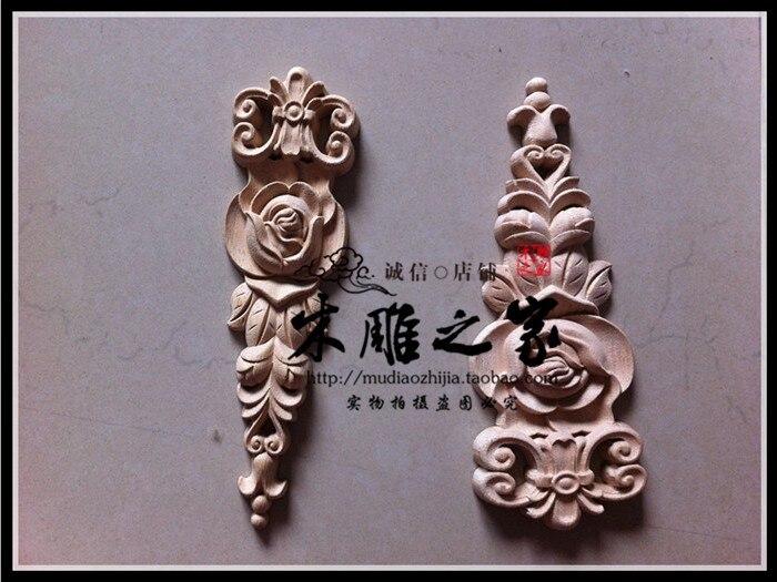 Dongyang scultura in legno in europea rose floral applique fiore