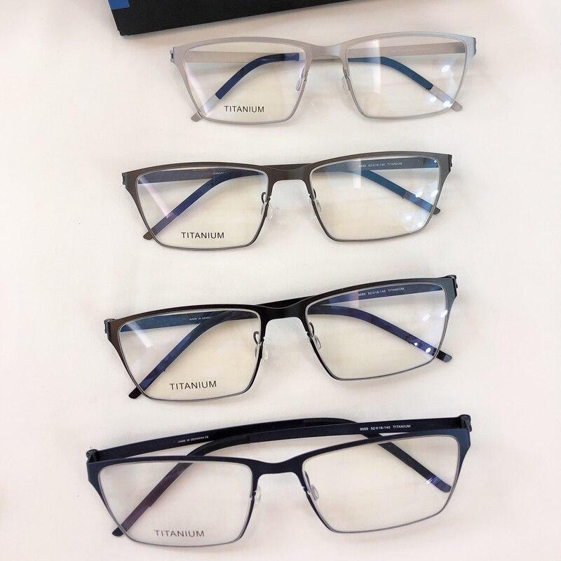 Retro Men s Glasses Frame Pure Titanium Optical Frame Eyewear very light Eyeglasses Square Vintage Classic