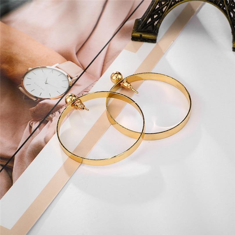 Big Round Earrings For Women Fashion Hollow Earrings Women Fashion Retro Big Circle Bead Pendant Alloy Earring Bijoux 30JUL160