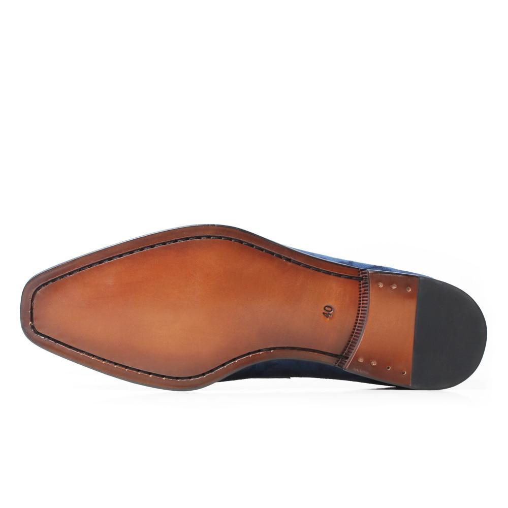 VIKEDUO Elegant Men's Loafer Shoes Genuine Leather Handmade Wedding Footwear Mans Casual Suede Shoes Sllip On Zapato de Hombre - 4