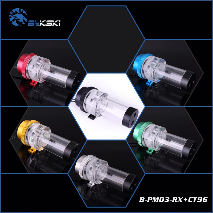 Bykski B-PMD3-RX+CT66/B-PMD3-RX+CT96 , B-PMD3-RX DDC pump with CT66/CT96 tank, pump head 6 meters , flow 600L/H bykski b pmd3 cov ct66 b pmd3 cov ct96 b pmd3 cov ddc pump with ct66 ct96 tank pump head 6 meters flow 600l h