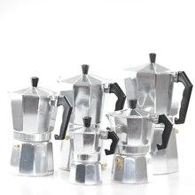 Free Shipping Classic Aluminum Moka Pot Italian Espresso Coffee Maker Percolators 1/3/6/9/12 Cups Mocha Accessories