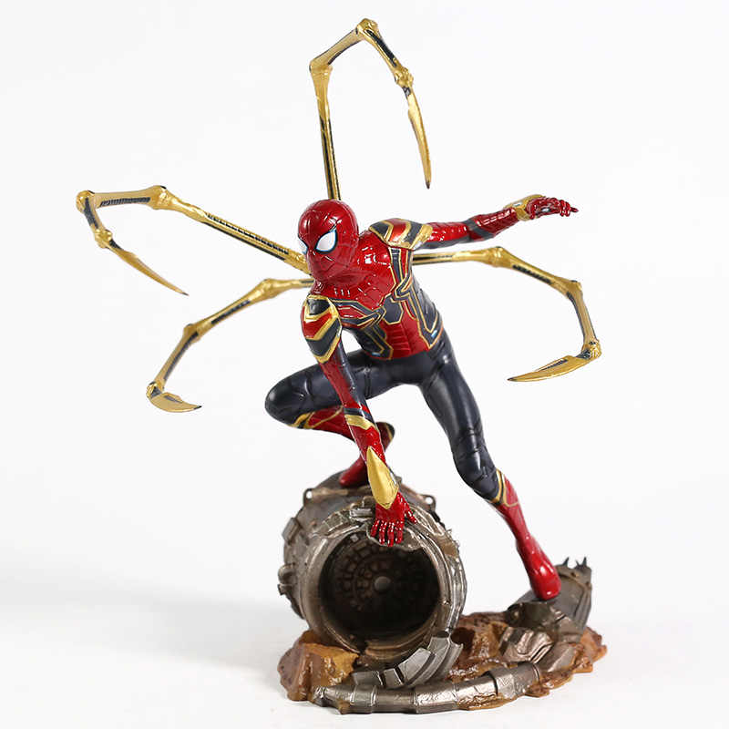 Marvel Avengers Infinity Guerra Iron Spider Statua Spiderman PVC Action Figure Da Collezione Model Toy Superhero Bambola