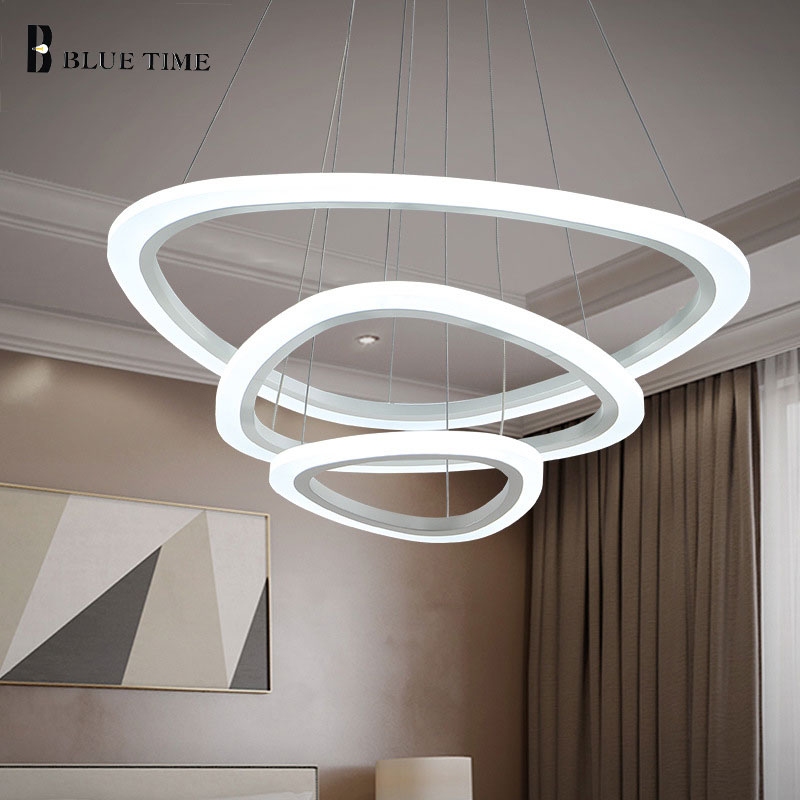 Living Room Modern LED Pendant Lights For Dining Room Fixture 4/3/2Rings Acrylic Pendant Lamp Indorr Hanging Ceiling Led Lustres a1 master bedroom living room lamp crystal pendant lights dining room lamp european style dual use fashion pendant lamps