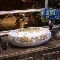 BIG Royal Home Handmade Ceramic Wash Basin For Decoration