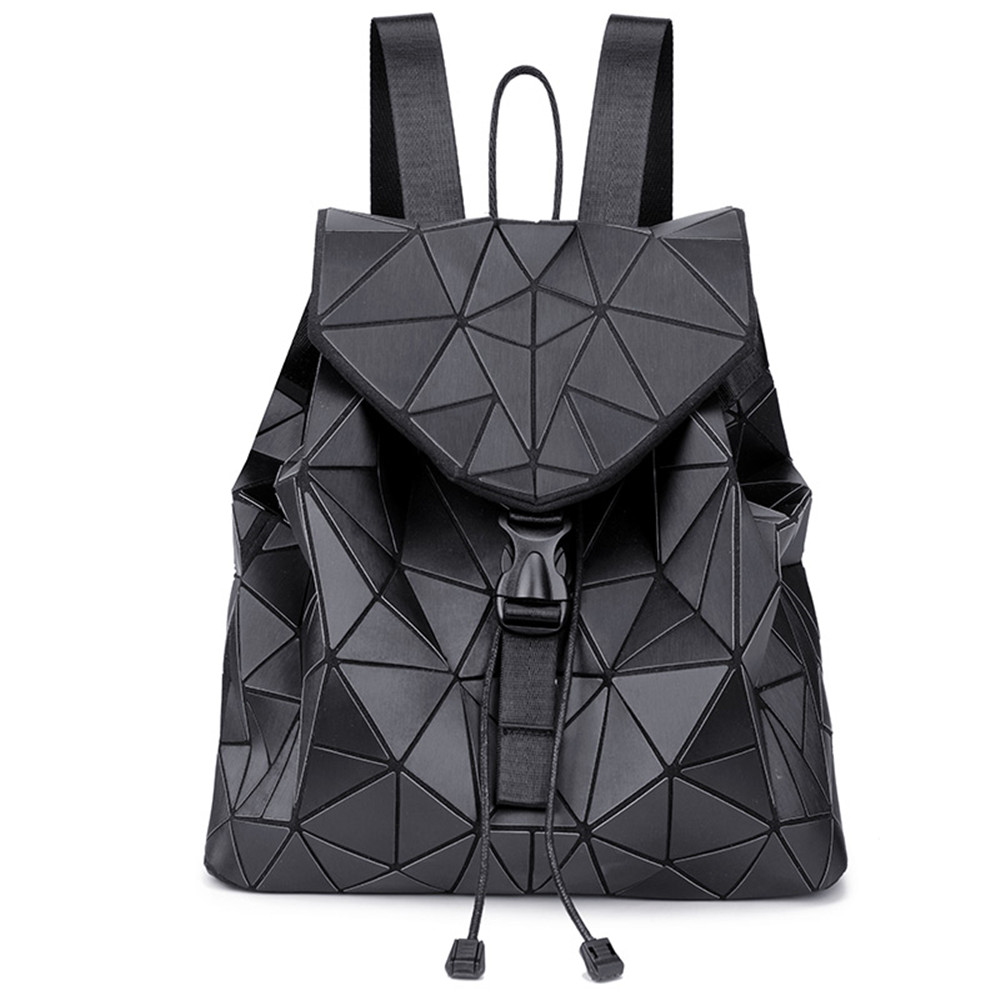 Women Laser Luminous Backpack Mini Geometric Shoulder Bag Folding Student School Bags For Teenage Girl Hologram Bao Backpack цена