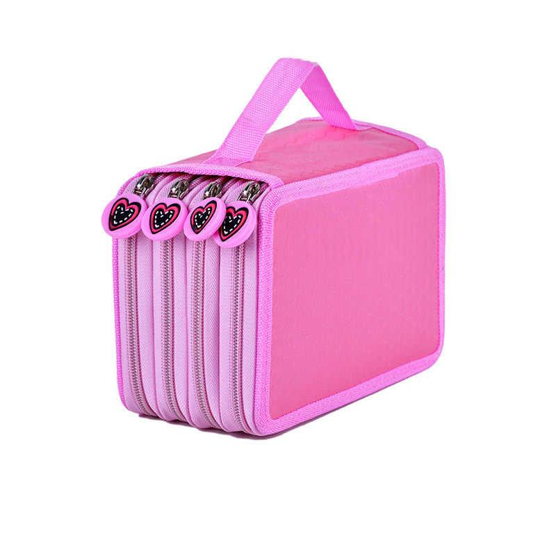 น่ารัก Kawaii Penalties โรงเรียนดินสอ 36/48/72 หลุม Penal Pencilcase 3/4 ชั้นขนาดใหญ่กล่องปากกากระเป๋าเครื่องเขียน
